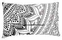 Ombre Mandala Cushion Pillow Cover Pillow Sham Case Throw Indian Cotton Decor