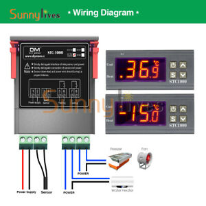 Multifunction Temperature Controller AC 110-220V LED Thermostat Control STC-1000