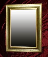 Espejo de Marco Busso Pared Dorado Madera 76x56 cm Kristall-Form
