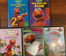 Sesame Street Elmo 5 DVD Lot: The Best Of Elmo, Great Numbers Game, Grouchland