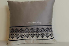 Embroidered Guestroom 100% Cotton Decorative Cushion Covers