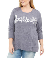 Style & Co Whimsy Sweatshirt Size 1X
