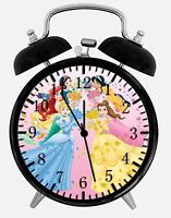 "Disney Princess Alarm Desk Clock 3.75"" Home or Office Decor W230 Nice For Gift"