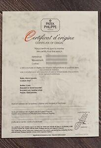 Authentic Patek Philippe Vintage Certificate paper UNFILLED Guarantee!