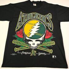 NOS RARE 1994 Grateful Dead Oakland As MLB TShirt Large Rock/Sports Memorabilia