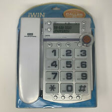 jWIN JT-P590 White Corded Speaker Phone with Caller ID Large Button New