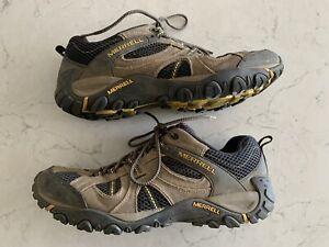 Merrell Boulder Empire Yellow Air Cushion Technology Hiking Shoes sz 11.5