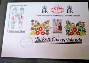 Turks and Caicos  1978 25th Anniversary of Coronation M/s on First Day Cover