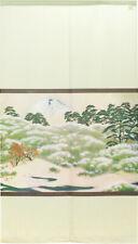 Noren Japanisch Aufhängen Vorhang Wandbehang Sacred Peak Autumn3 Weiß Taikan
