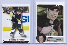 "(2) SYDNEY CROSBY 2005 SPORTS ILLUSTRATED '1ST EVER PRINTED"" 2 CARD ROOKIE LOT!"