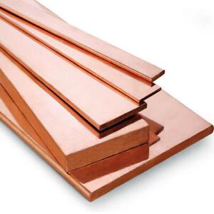 99% Pure Copper Sheet Flat Bar Copper Strip T2 Cu Metal Plate 100 250mm 10-40mm