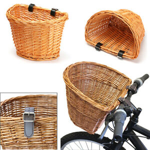 Vintage Hand Woven Rectangle Front Wicker Bike Basket Bicycle/Cycle NEW
