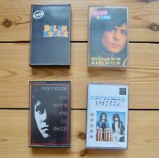 T. REX/MARC BOLAN 4 cassettes, Boogie, You Scare Me To Death, Zip Gun, Very Best