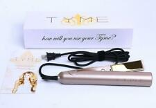 100% new /TYME Iron/ 2 in 1 Hair Straightening Curling Gold Plated Titanium.