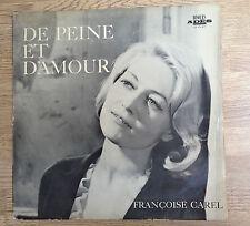 """33 tours Françoise Carel """"De peine et d'amour"""" Vander disque rare état moyen VG-"""