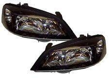 For Vauxhall Astra 98-04 G Mk4 Headlights Lamps Black Gsi Smoked Black Pair