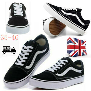 2021 VAN Old Skool Skate Shoes Black All Size Classic Canvas Casual Sneakers