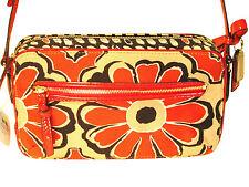 NWT Coach 25121 Poppy Flower Scarf Print Red Flight Bag Crossbody msrp $168