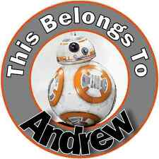24 Personalized BB8 BB-8 STAR WARS Property Stickers name tags School Labels