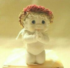"""Dreamsicles """"Bless Us All"""" Angel Figurine,Cast Art Ind.,Ceramic,Signed,Mini"""