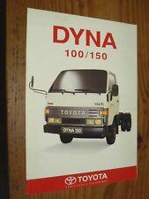 Prospectus Fourgon TOYOTA DYNA 100/ 150  Camion Truck LKW Prospekt Brochure