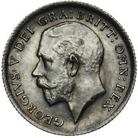 1913 SIXPENCE - GEORGE V BRITISH SILVER COIN - SUPERB