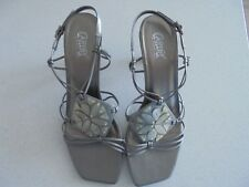Carlos By Carlos Santana 8.5M Shiny Gray/Tortoise Shell Leather Shoes - Nwob
