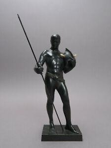 Kowalczwski Paul Figura de Bronce Speerkrieger Firmado (19) 04 Nouveau Aprox.
