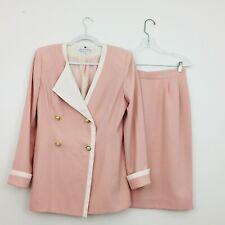 80s ILGWU Saks Fifth Avenue Collection Women's Skirt Suit Size 10 Blazer  Rose