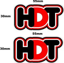 HDT Black/Red Small stickers TWO (2) 55 x 30 mm each