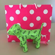 """VICTORIA'S SECRET PINK-COLLECTIBLE  """"Light Green"""" PLUSH DOG,NEW!! Exquisite!!"""