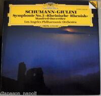 Schumann : Symphonie No 3, Manfred Overture / Giulini, Los Angeles Po - LP DGG