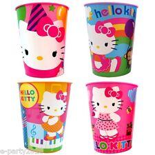 HELLO KITTY REUSABLE KEEPSAKE CUPS (4) ~ Birthday Party Supplies Favors Stadium