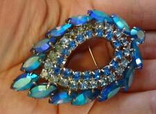 Vintage Signed Sara Coventry Rhinestone Large Brooch Pin