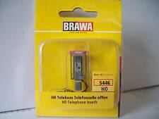 Brawa 5446 H0 Telefonzelle Telekom, offen NEU OVP