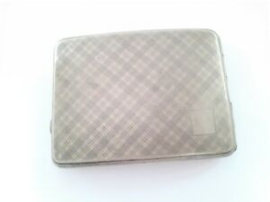 Vintage English Cigarette Case EPNS Pocket Friendly Silver Plated case G76-12 US
