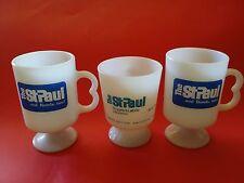 3 RARE THE ST. PAUL INSURANCE & BONDS MILK GLASS COFFEE MUGS MUG FIRE-KING CUP