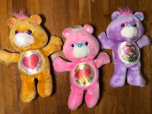"VTG Lot 1991 12"" Care Bear Share Bear Tenderheart Love A Lot Environmental Plush"