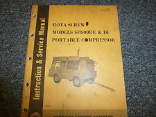 Gardner Denver SP600DE SP600DF Rota Screw Compressor Service Repair Manual