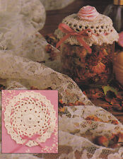 Crochet Pattern ~ POTPOURRI JAR DOILY COVER ~  Instructions