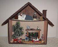 "Vintage Christmas Diorama Wood Box  12 1/2"" wide x 10 1/2"" tall"