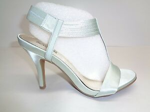 Kenneth Cole Size 8 M KNOW WAY Mint Green Satin Heels Sandals New Womens Shoes