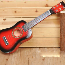 "25"" Acoustic Guitar Small Scale Child Kids Practice Play Toy Christmas Gift Red"