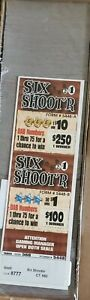 SIX SHOOTER  PULL TAB SEAL GAME TICKET COUNT 560 PROFIT $150
