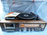 1970's BINATONE MUSIC MACHINE TURNTABLE CASSETTE PLAYER RECORDER MW LW FM RADIO