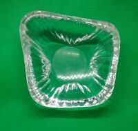Artist Glass Console Dish Traingle Thick Clear Ripples MidCentury Sign Bila 2606