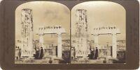 Tempio Da Venus A Pompei Italia Foto Stereo Vintage Analogica Ca 1900