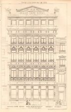 1873 antiguo arquitectura, diseño de impresión-Grand Cafe Royal y restaurante