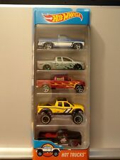 Hot Wheels HOT TRUCKS 5 Pack Silverado F-150 Tundra Ford F1 Nissan Titan