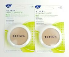 Lot of 2 Almay Clear Complexion Pressed Powder 200 Light/Medium